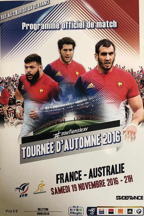 France v Australia 19.11.2016