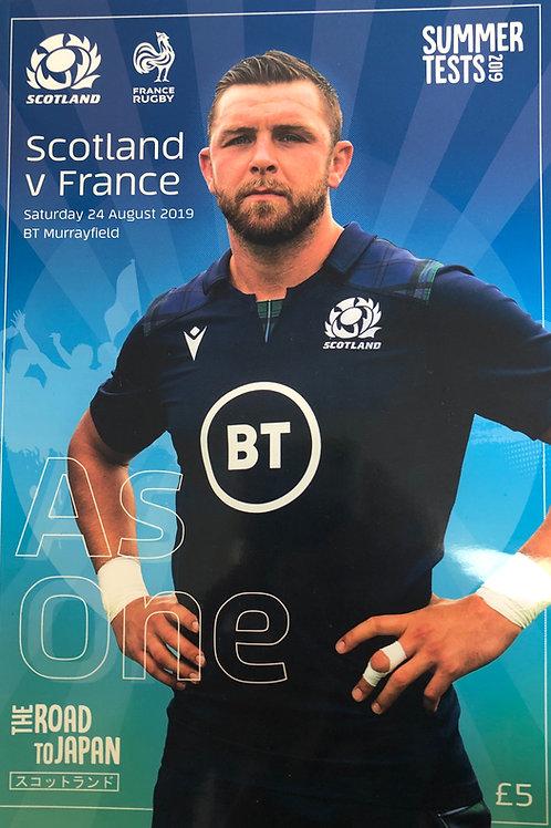 Scotland v France24.08.2019