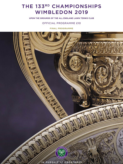 Wimbledon 2019 Final -  Official Programme