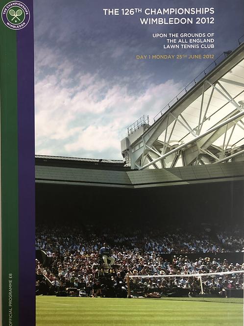 Wimbledon 2012 Day 1 Official Programme