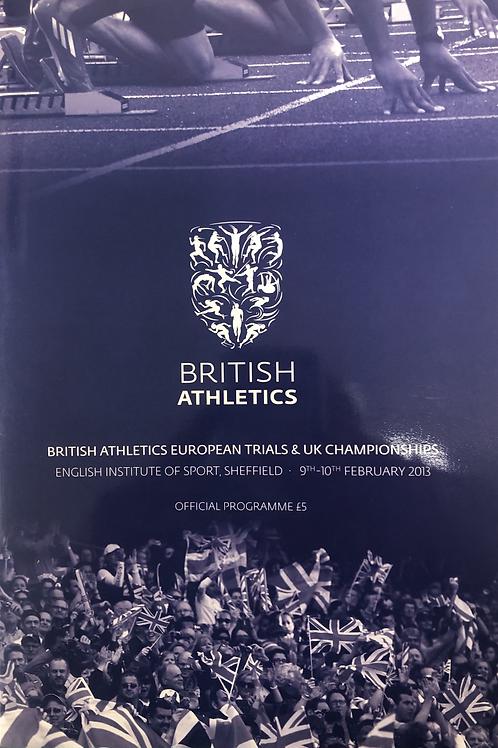 British Athletics European Trials & UK Championships 2013