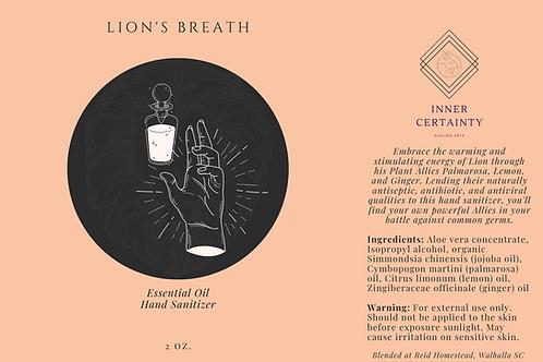 Lion's Breath Hand Sanitizer