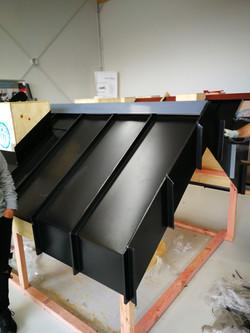 angled standing seam roof