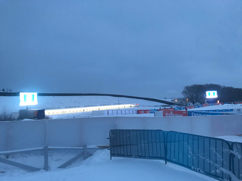 Early morning on Day 3 of the 2019 World Cup Biathlon