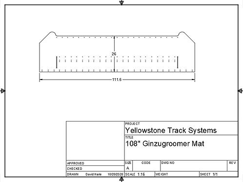 """108"""" (274 cm) mat"""