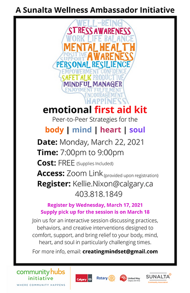 emotional first aid kit - Poster - March