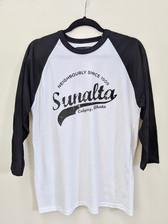 Local Laundry Black & White Baseball Shirt