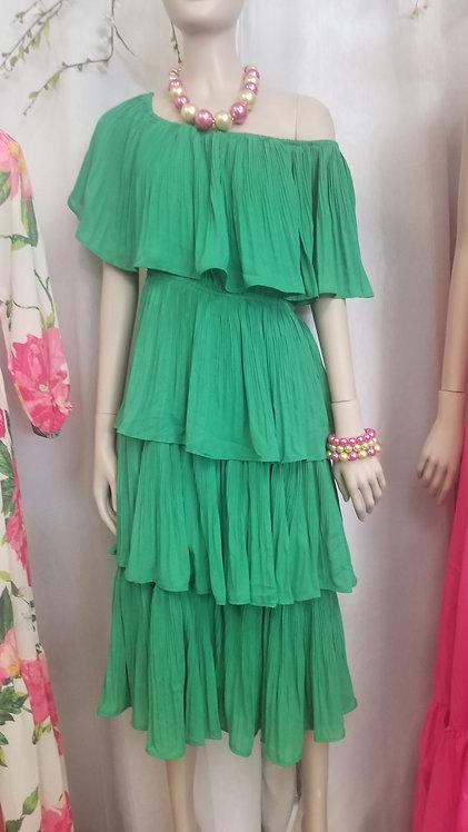 Tri Layer Pleat Dress