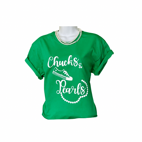 Chucks & Pearls Tee with Options