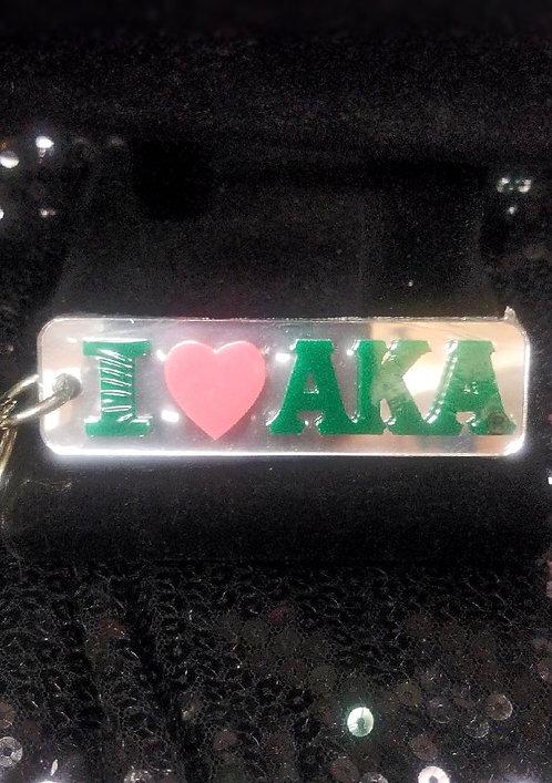 AKA I Love (My Sorority) Keychain