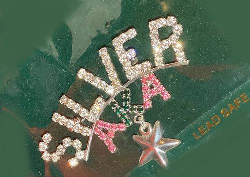 AKA Silver Star Brooch w/Star charm