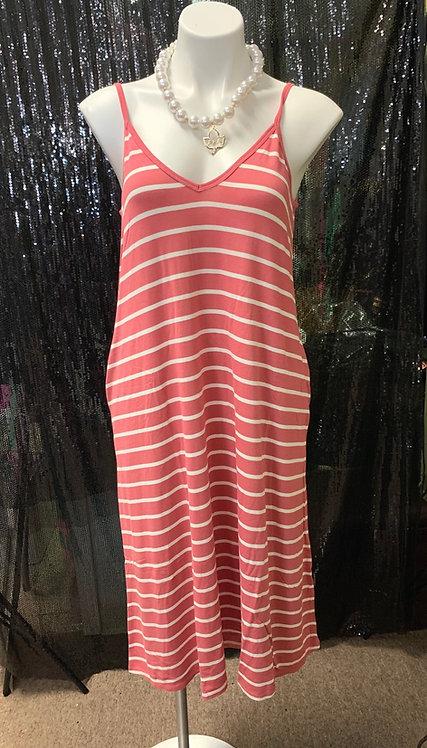 Stripe Tank Mid Length Dress