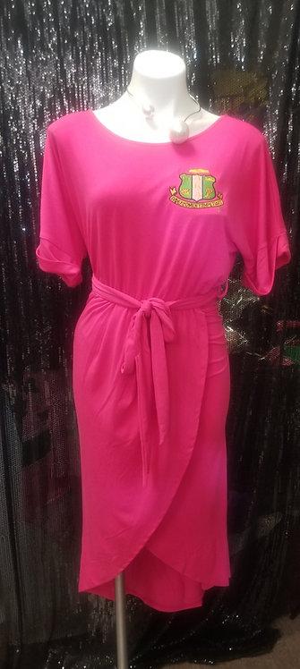 Semi Wrap Dress w/Shield