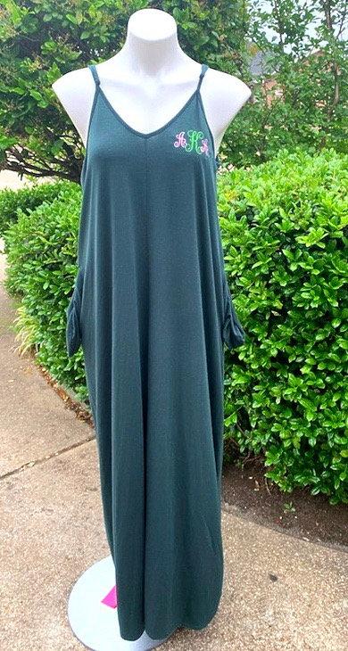 Green Jumper Dress AKA Monogram
