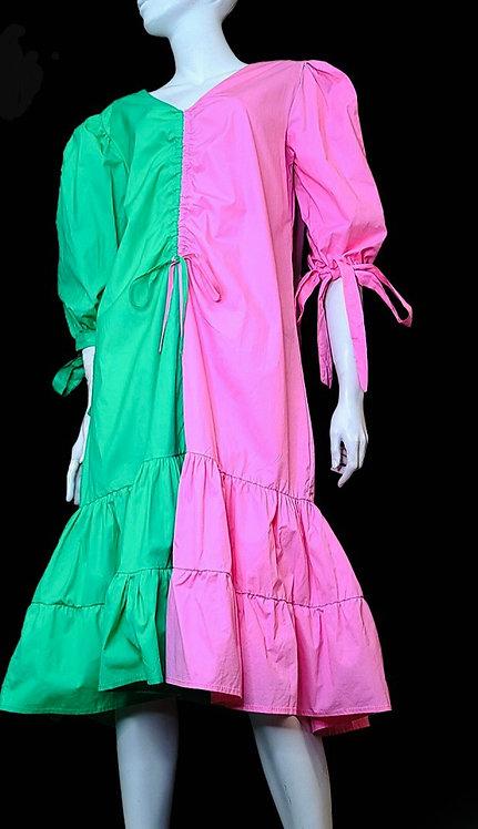 Half & Half Pink and Green