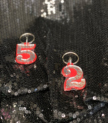 DST Line Number Keychain