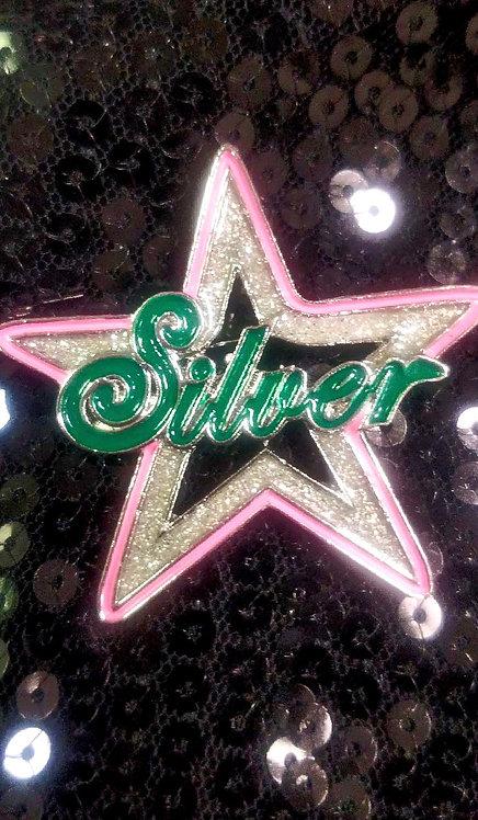 AKA Silver Star Pin (Star)