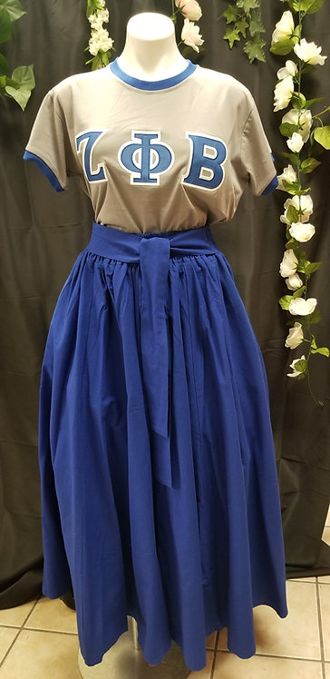 Maxi Circle Skirt-Blue