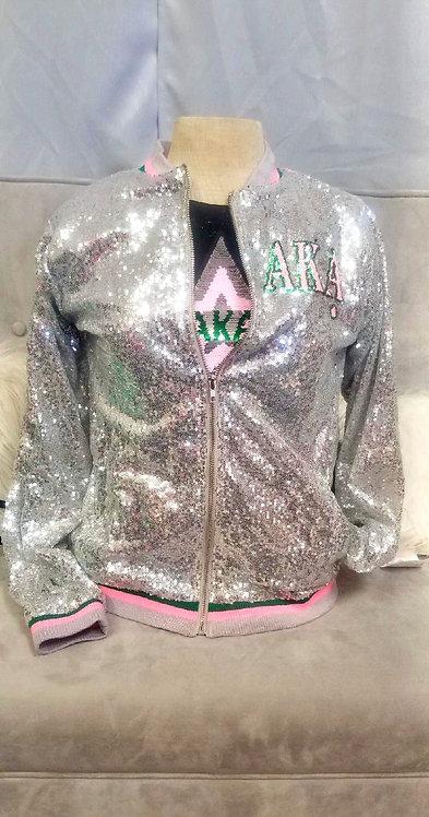 Silver Star Sequin Jacket