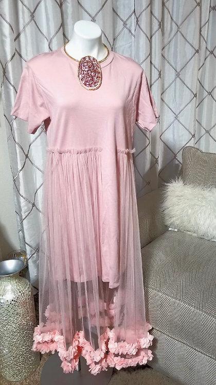 Dress w/Sheer Overlay