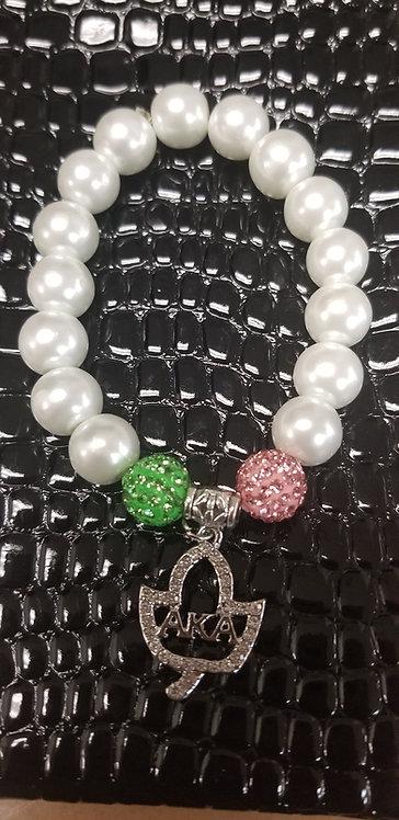 Ivy Leaf & Shamballa Bracelet