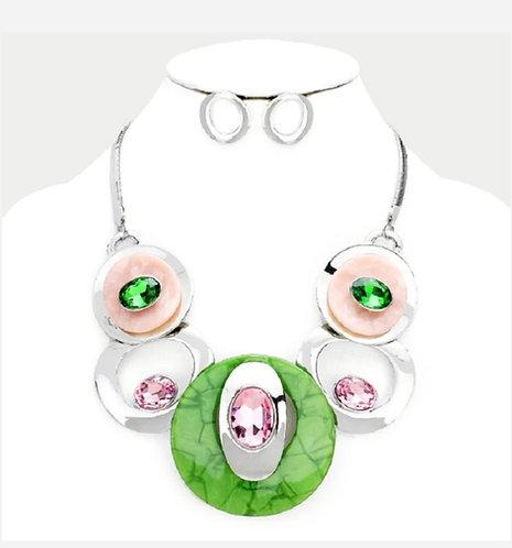 PGS Stone Necklace Set