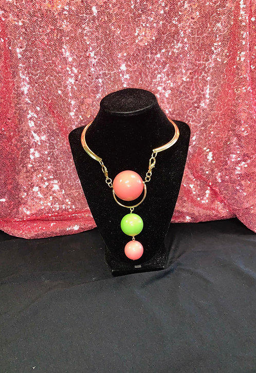 Pearl 3 Ball Drop Necklace Set
