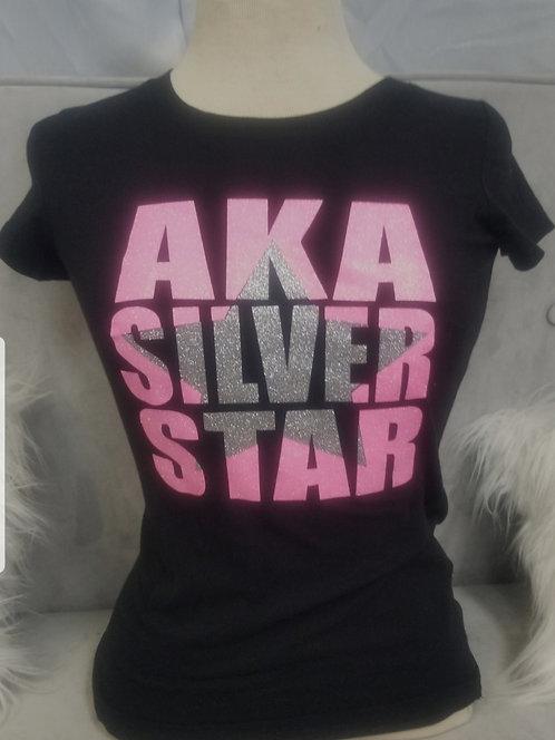 Silver Star Cutout Tee