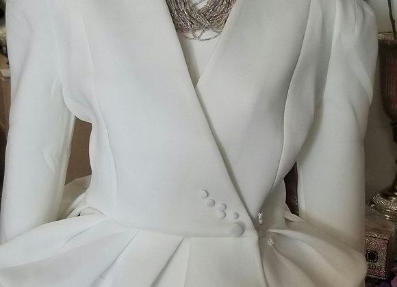 Peplum Buttonover Jacket