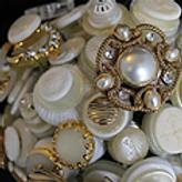 KJ's Vintage Button Bouquets