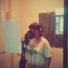 First backing vocal recording.jpg