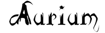 Aurium Logo - Black