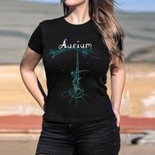 """AURIUM """"GREEN FIGURE"""" GIRLIE T-SHIRT"""