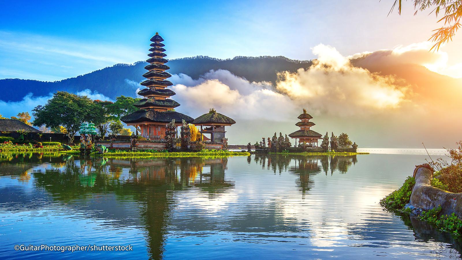 peaceful serene temple