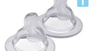 MAM Silicone Baby Bottle Teats 0+Months Slow Flow