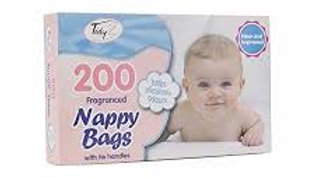 Nappy Bags with Tie Handles Fragranced 200pack