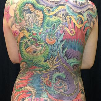 Dragon and Phoenix Tattoo