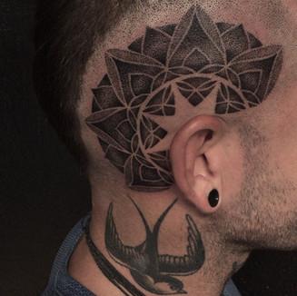 Head Tattoo - Mandala