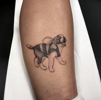 Puppy Bee Tattoo