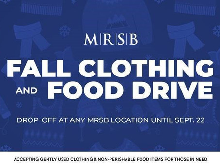 Fall Clothing and Food Drive!!