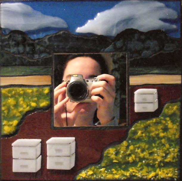 Glass Mosaic of a Mustard Field