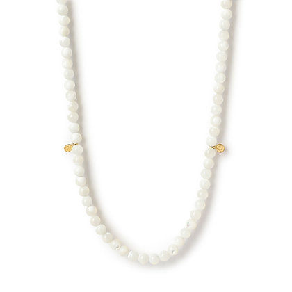 The Alkemistry 18ct yellow gold and Mother of Pearl necklace