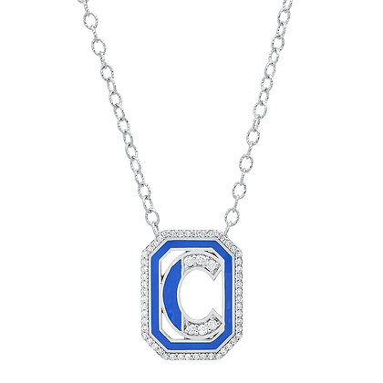 Colette 18ct white gold and diamond 'C' initial necklace