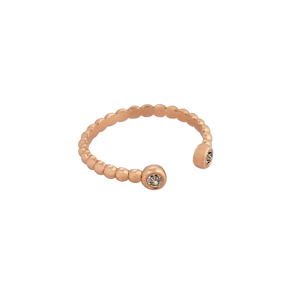 Kismet by Milka 14ct rose gold doubled ended pinky ring