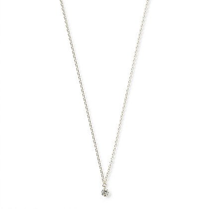 The Alkemistry 18ct white gold drilled diamond necklace