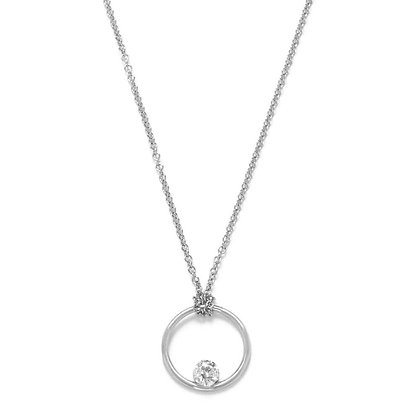The Alkemistry 18ct white gold floating diamond circle necklace