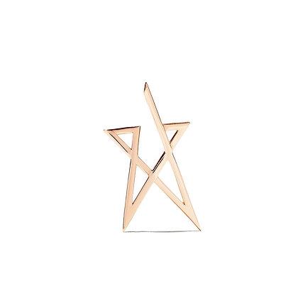 Kismet by Milka 14ct rose fold struck doodle star earring (single)