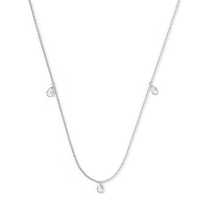 The Alkemistry 18ct white gold three pear rose cut diamond necklace