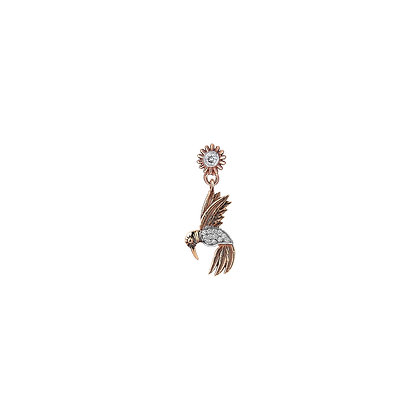 Kismet by Milka 14ct rose gold and diamond drop stud (single)