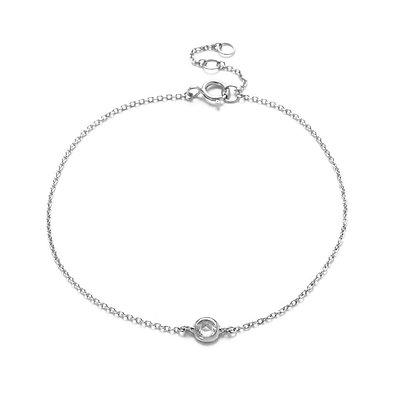 The Alkemistry 18ct white gold and rose cut diamond bracelet